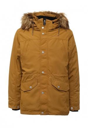 Куртка утепленная Rukka. Цвет: коричневый