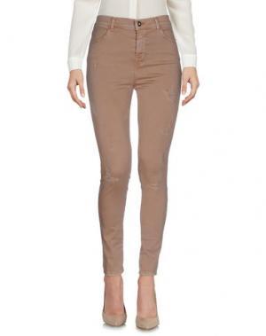 Повседневные брюки MARCO BOLOGNA. Цвет: светло-коричневый