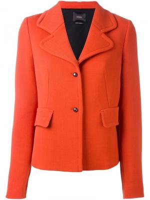 Приталенный пиджак Odeeh. Цвет: жёлтый и оранжевый