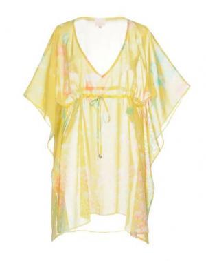 Блузка MISS NAORY. Цвет: желтый