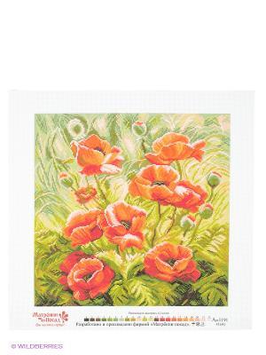 Набор для вышивания Маковый зной Матренин Посад. Цвет: белый, зеленый, оранжевый, розовый