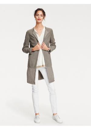 Кожаное пальто RICK CARDONA by Heine. Цвет: песочный