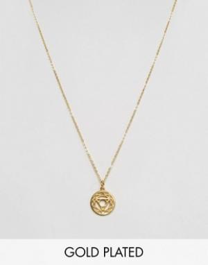 Ottoman Hands Ожерелье с подвеской Корневая чакра. Цвет: золотой