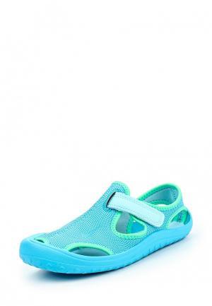 Сандалии Nike. Цвет: голубой