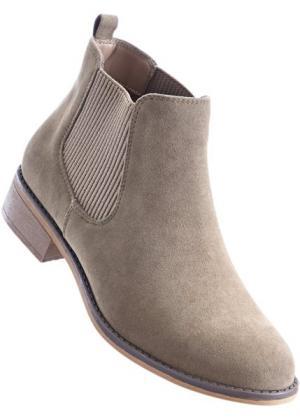 Ботинки-челси (серо-коричневый) bonprix. Цвет: серо-коричневый