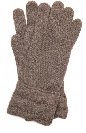 Вязаные перчатки из кашемира Kashja` Cashmere. Цвет: коричневый