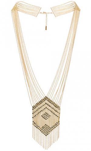 Массивное ожерелье liquid SunaharA. Цвет: металлический золотой
