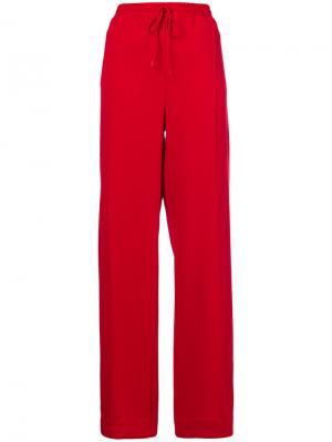Широкие брюки Area. Цвет: красный