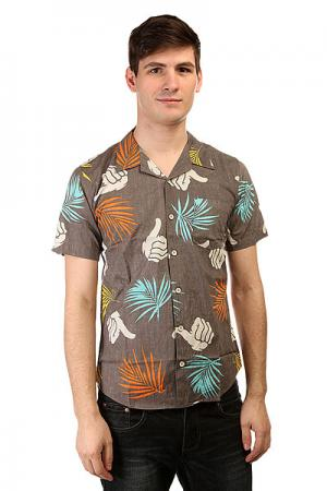 Рубашка  Tropic Print Shirt Charcoal Bro Style. Цвет: серый