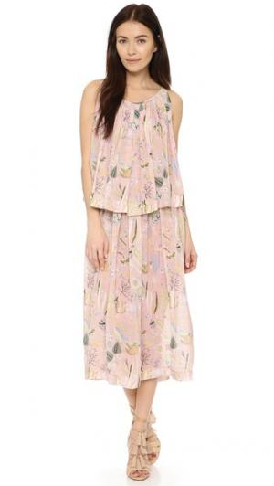 Миди-платье Dasha Jill Stuart. Цвет: пудровый