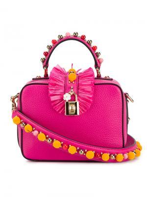 Маленькая декорированная сумка на плечо Dolce & Gabbana. Цвет: розовый и фиолетовый