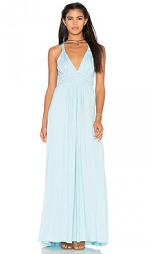 Платье topangga sky. Цвет: нежно-голубой