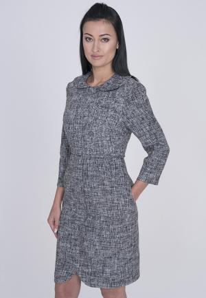 Платье Лярго. Цвет: серый