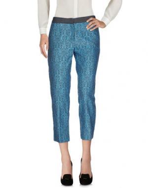Повседневные брюки E-GÓ. Цвет: бирюзовый