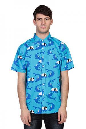 Рубашка  Shark Blue Enjoi. Цвет: голубой