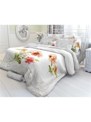 Комплект постельного белья 2,0-сп, VEROSSA, наволочки 50*70 см, Romance Verossa. Цвет: серый, белый, красный