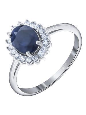 Кольцо Teosa. Цвет: синий