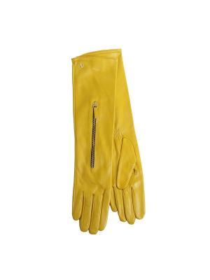 Перчатки DALDOSSO. Цвет: желтый