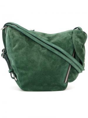 Мини сумка на плечо  Fernweh Manu Atelier. Цвет: зелёный