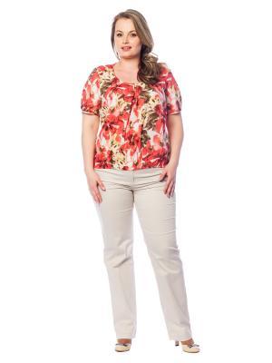 Блузка BERKLINE. Цвет: коралловый