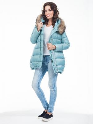 Пальто Malinardi. Цвет: голубой