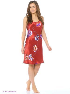 Ночная сорочка Del Fiore. Цвет: красный