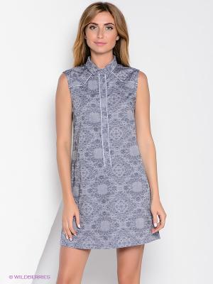 Платье Yuka. Цвет: серый
