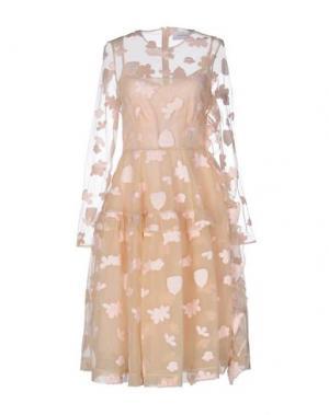 Платье до колена SIMONE ROCHA. Цвет: песочный