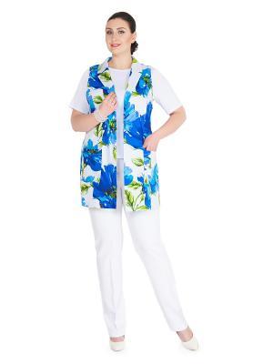 Жакет Darissa Fashion. Цвет: голубой, белый