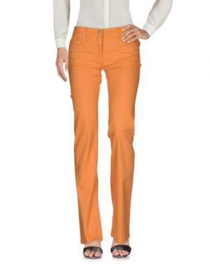 Повседневные брюки BLU BYBLOS. Цвет: оранжевый