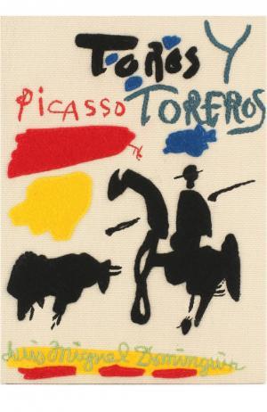 Клатч в виде книги с аппликацией Picasso Toreros Olympia Le-Tan. Цвет: бежевый
