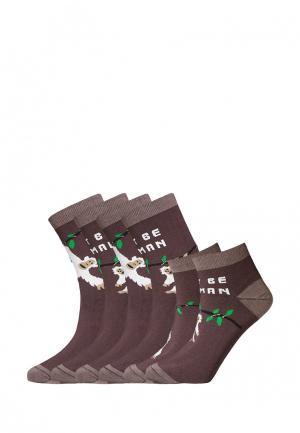 Комплект bb socks. Цвет: коричневый