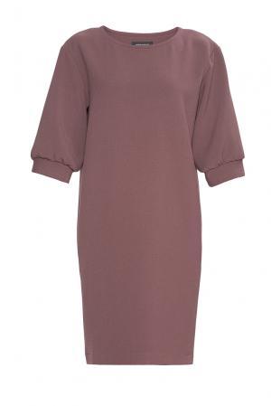 Платье из искусственного шелка с вискозой 184159 Cyrille Gassiline. Цвет: коричневый