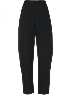 Прямые брюки Toteme. Цвет: чёрный