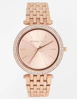Michael Kors Часы с покрытием из розового золота Darci MK3192. Цвет: золотой