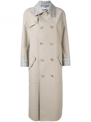 Checked trim trench coat Gabriela Hearst. Цвет: телесный