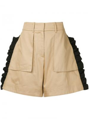 Mousa ruffle shorts Public School. Цвет: коричневый