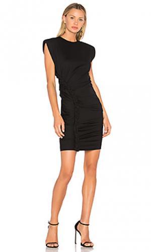 Платье из плетенного понте adena Ronny Kobo. Цвет: черный