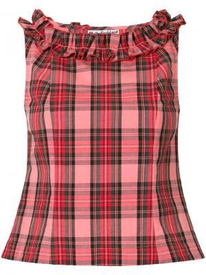 Блузка без рукавов в клетку Molly Goddard. Цвет: многоцветный