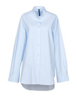 Pубашка SARA LANZI. Цвет: небесно-голубой
