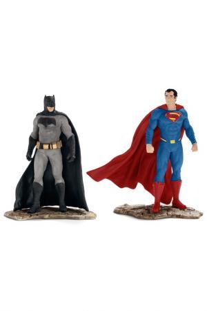 Бэтмэн и Супермэн Schleich. Цвет: серый, синий, красный
