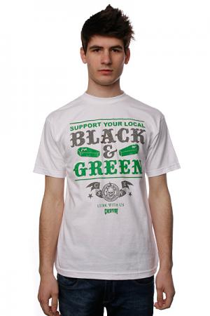 Футболка  Black And Green White Creature. Цвет: белый
