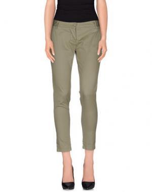Повседневные брюки BOMBOOGIE. Цвет: зеленый-милитари