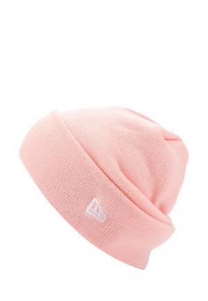 Шапка New Era. Цвет: розовый
