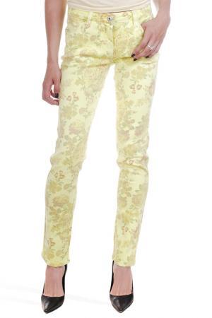 Прямые джинсы с рисунком Million X Woman. Цвет: желтый
