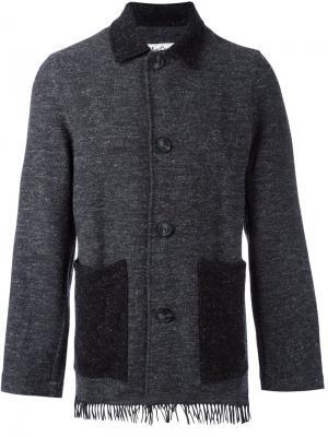 Куртка на пуговицах YMC. Цвет: серый