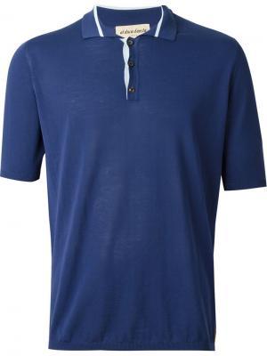 Трикотажная футболка-поло Al Duca D'Aosta 1902. Цвет: синий