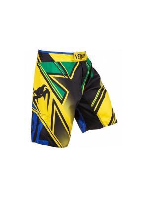 Шорты MMA Venum Wands Conflict - Yellow/Blue/Green. Цвет: желтый, зеленый, черный
