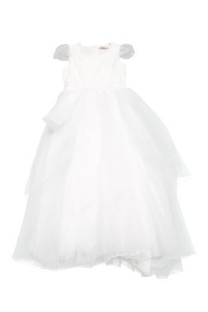 Платье Miss Blumarine. Цвет: белый
