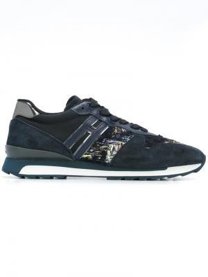 Кроссовки с панельным дизайном Hogan Rebel. Цвет: синий